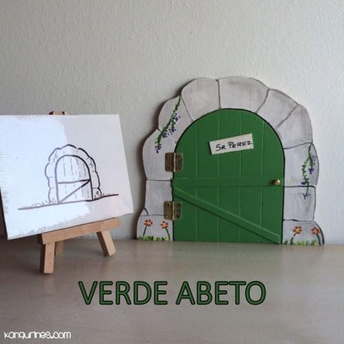 Puerta Ratoncito Pérez. Verde abeto