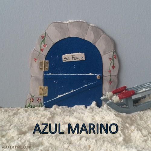 Puerta Ratoncito Pérez. Azul marino