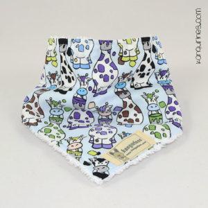 Babero quita-babas / Bandana. Jirafas multicolor azul