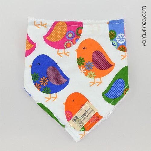 Babero quita-babas / Bandana. Pájaros
