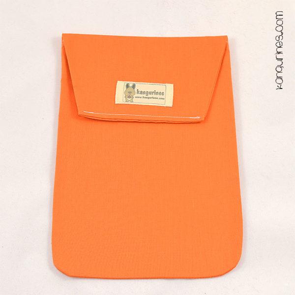 Bolsa porta pañales. Naranja