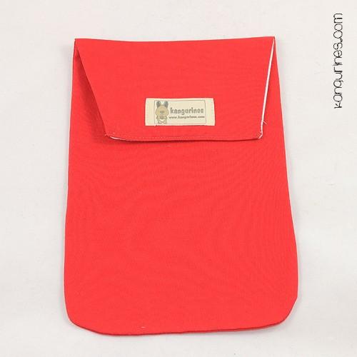 Bolsa porta pañales. Rojo vivo