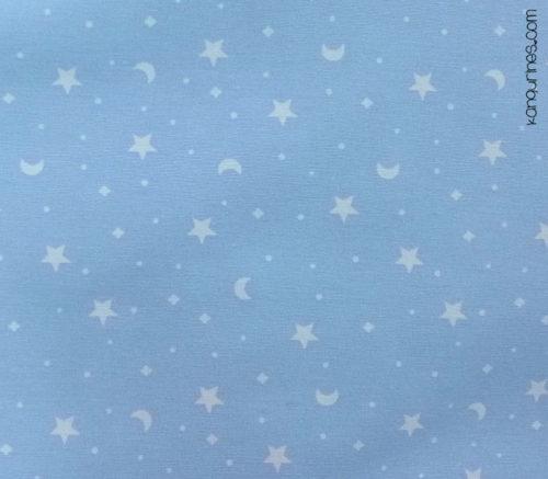 Azul con lunas y estrellas