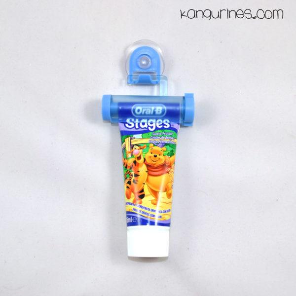 Exprimidor de pasta de dientes azul