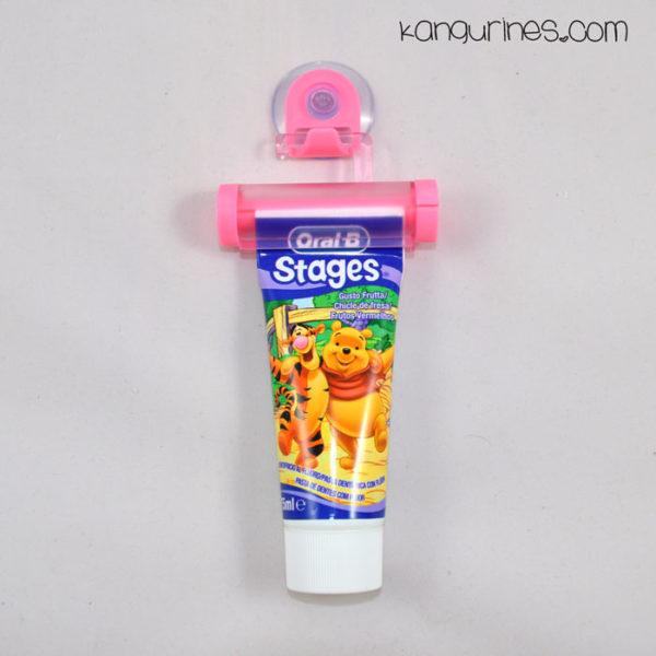 Exprimidor de pasta de dientes rosa