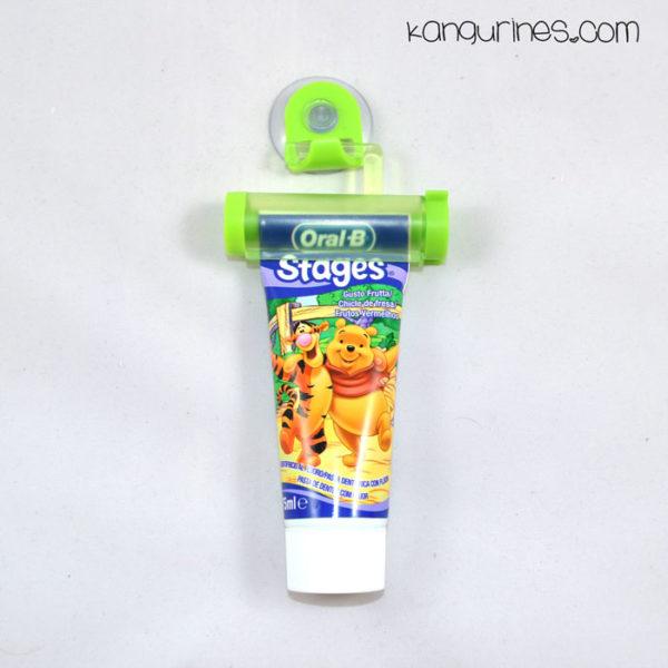 Exprimidor de pasta de dientes verde