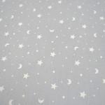 Gris con lunas y estrellas