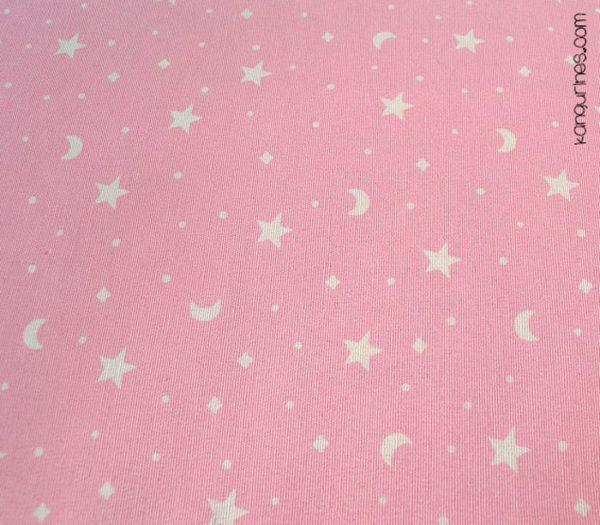 Rosa con lunas y estrellas