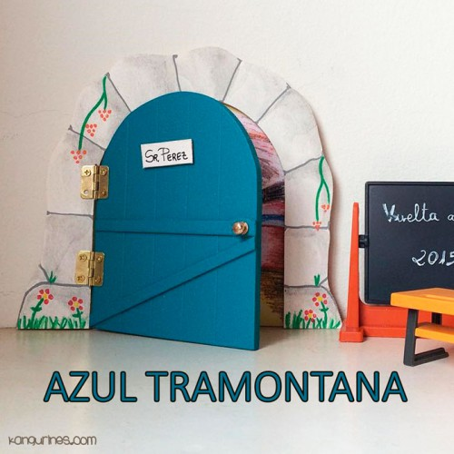 Puerta Ratoncito Pérez. Azul tramontana