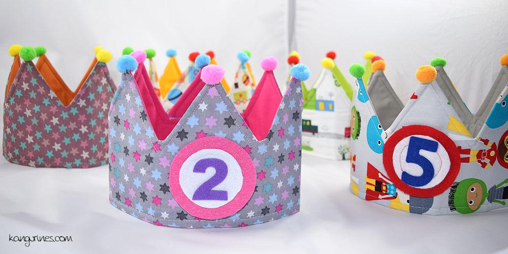 Coronas de cumpleaños reversibles