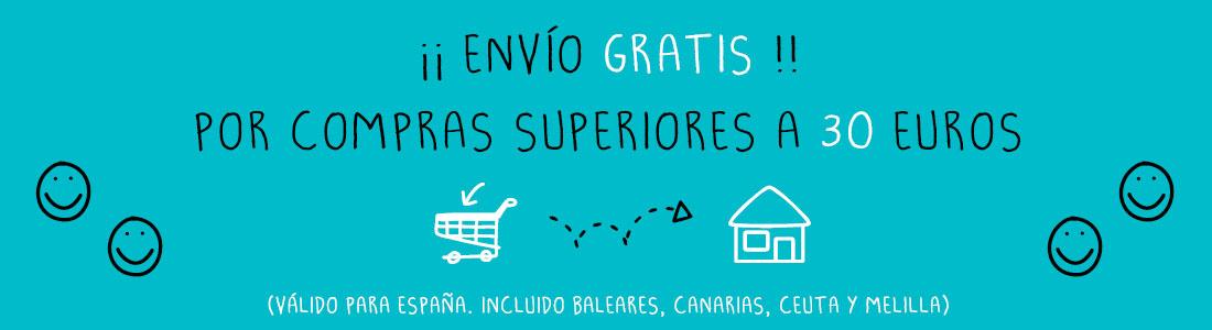 ¡¡Envío gratis!! Por compras superiores a 30€. (Válido para España. Incluido Baleares, Canarias, Ceuta y Melilla)