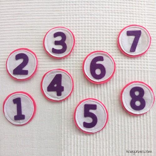 Números del 1 al 9 para tu corona