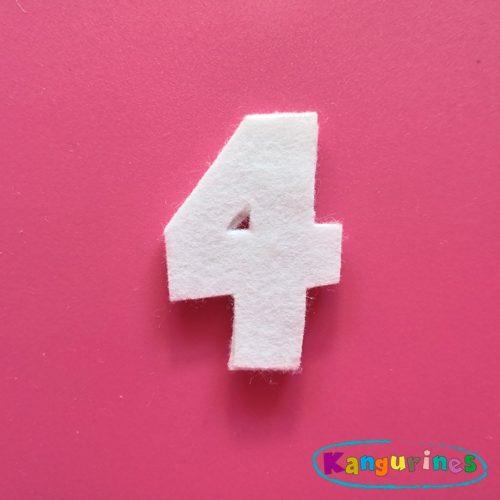 Número 4 para tu corona