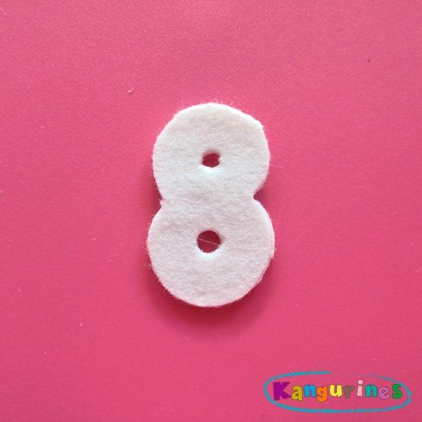 Número 8 para tu corona