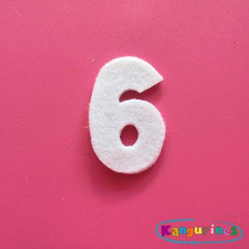 Número 6 para tu corona