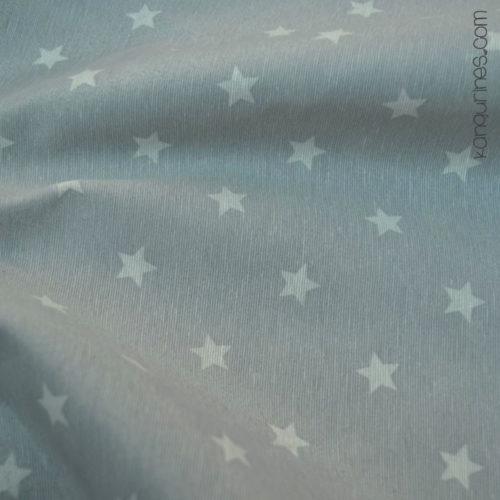 Loneta estrella grande gris