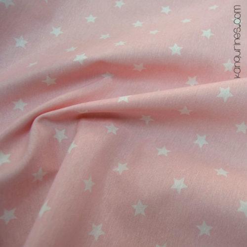 Loneta estrella grande rosa