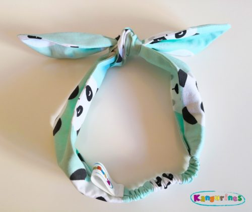 Diadema turbante. Pandas mint