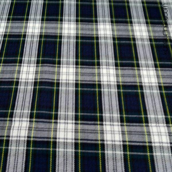 Cuadro escocés azul blanco - 03