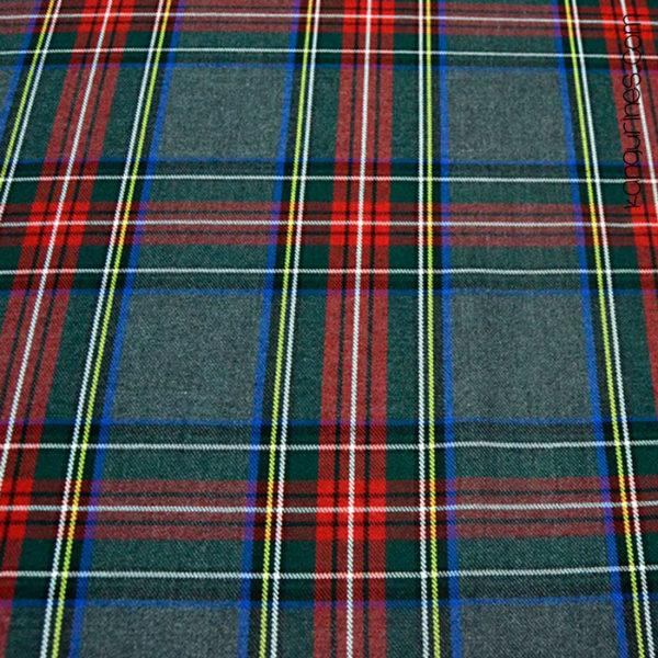 Cuadro escocés verde rojo - 05