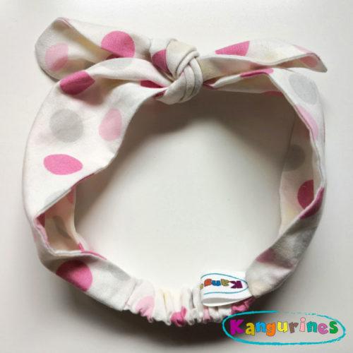 Diadema turbante círculos rosa