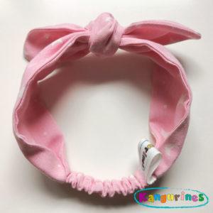 Diadema turbante rosa lunas y estrellas