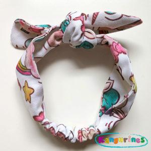 Diadema turbante unicornios