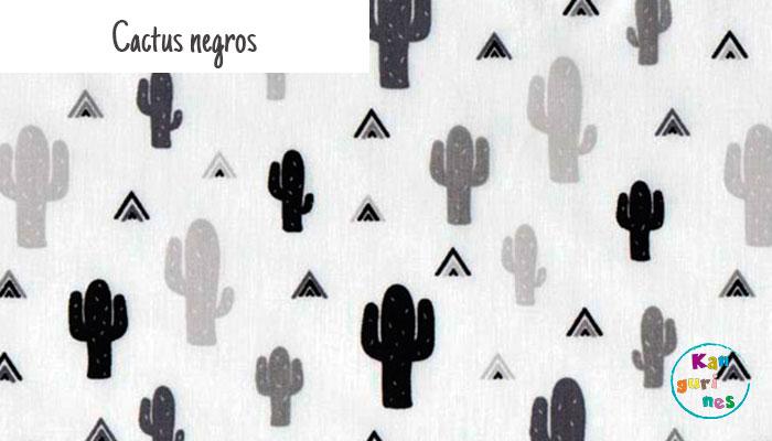 Tela Cactus negros