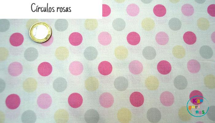 Tela Círculos rosas