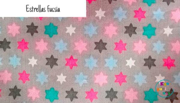 Tela Estrellas fucsia
