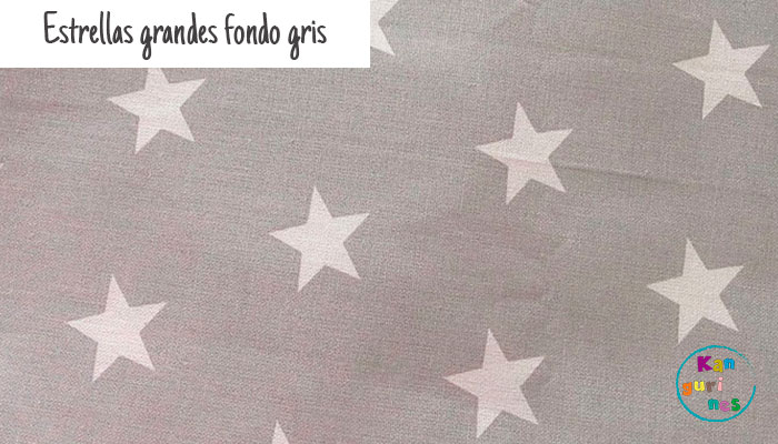 Tela Estrellas grandes fondo gris