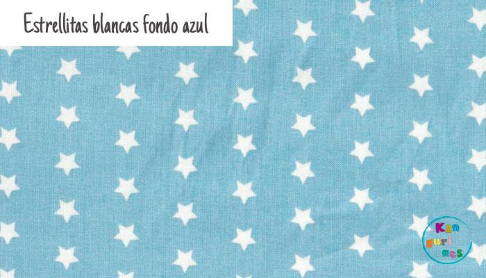 Tela Estrellitas blancas fondo azul