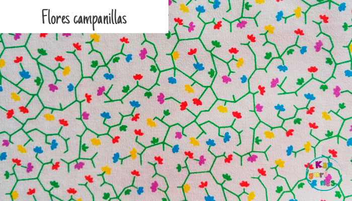 Tela Flores campanillas