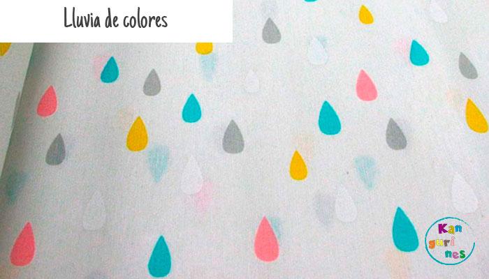 Tela Lluvia de colores
