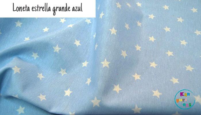 Tela Loneta estrella grande azul