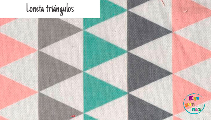 Tela Loneta triángulos