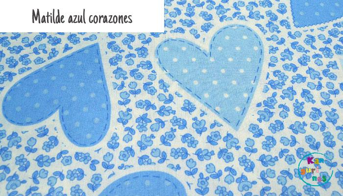 Tela Matilde azul corazones