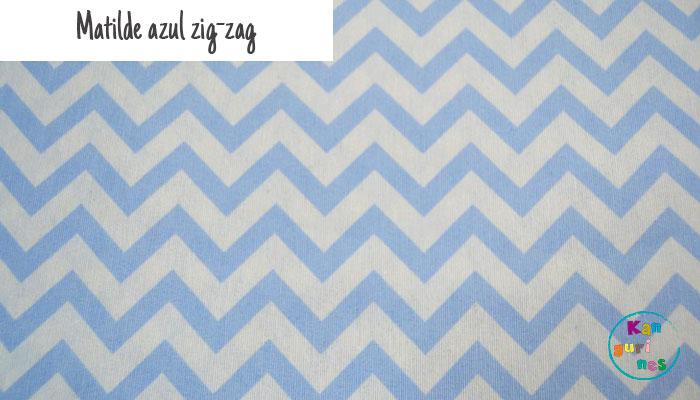 Tela Matilde azul zig-zag