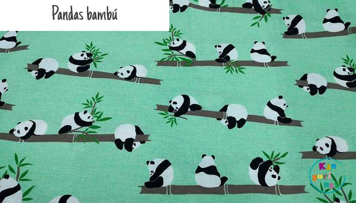 Tela Pandas bambú