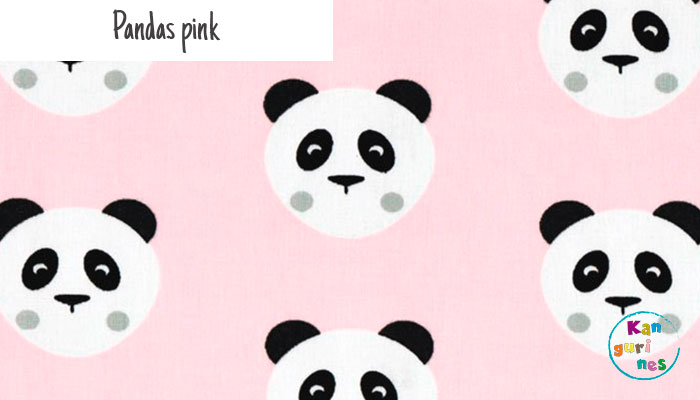 Tela Pandas pink
