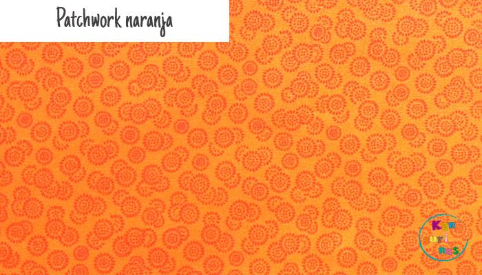 Tela Patchwork naranja