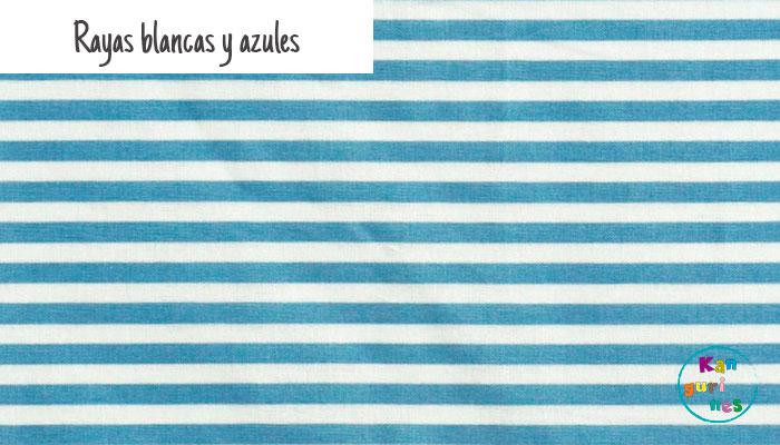 Tela Rayas blancas y azules