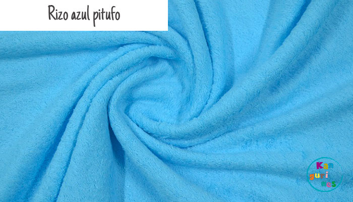 Tela Rizo azul pitufo