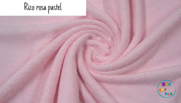 Tela Rizo rosa pastel