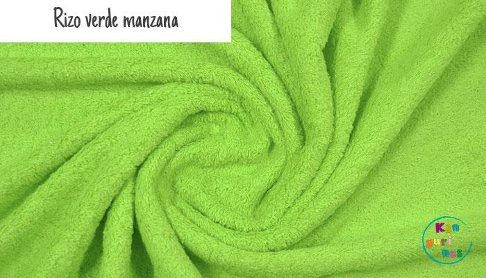 Tela Rizo verde manzana
