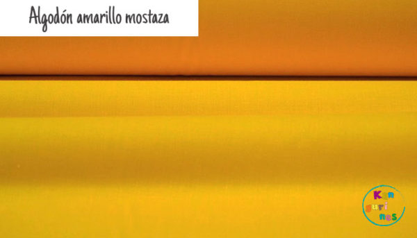 Tela Algodón amarillo mostaza