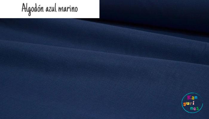 Tela Algodón azul marino