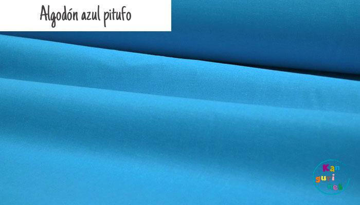 Tela Algodón azul pitufo