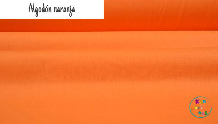 Tela Algodón naranja