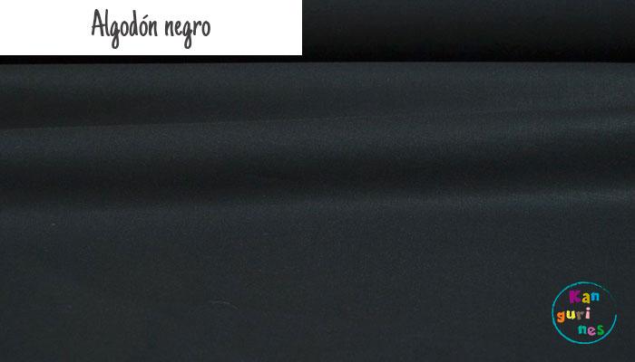 Tela Algodón negro